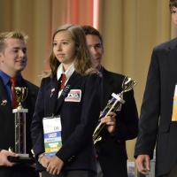 Jessica Harris of Seaford High School received 4th place in Transporation Modeling.