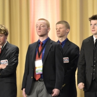 Robert Bobo and Davey McGinnis of Mount Pleasant High School received 9th place in Music Production.