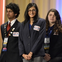 Monideepa Chatterjee and Bridgette Spritz of Concord High School received 10th place in Debating Technological Issues.