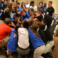 Delaware TSA members playing the Human Knot game!
