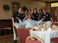 The State Officer Team with 'Grrr' from FOCUS Training