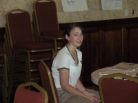 Rachael Ciaramella working hard at State Officer Training