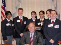 The State Officer Team with the Delaware Governor, Jack Markell at Legislative Appreciation Day
