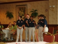 The State Officer Team making a presentation at State Officer Training