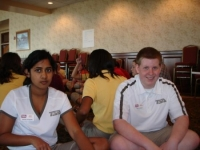 Manisha Yarlagadda and Steven Vanderloo at State Officer Training